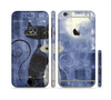 The Abstract Black & White Cats Sectioned Skin Series for the Apple iPhone 6/6s
