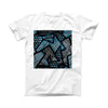 The Abstract Black and Blue Overlap ink-Fuzed Front Spot Graphic Unisex Soft-Fitted Tee Shirt