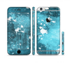 The Abstract Bleu Paint Splatter Sectioned Skin Series for the Apple iPhone 6/6s