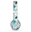 The Abstract Blue & Black Seamless Flowers Skin Set for the Beats by Dre Solo 2 Wireless Headphones