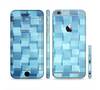 The Abstract Blue Cubed Sectioned Skin Series for the Apple iPhone 6/6s