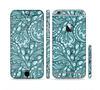 The Abstract Blue Feather Paisley Sectioned Skin Series for the Apple iPhone 6/6s