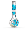 The Abstract Blue Floral Pattern V4 Skin Set for the Beats by Dre Solo 2 Wireless Headphones