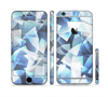 The Abstract Blue Overlay Shapes Sectioned Skin Series for the Apple iPhone 6/6s