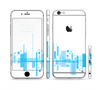 The Abstract Blue Skyline View Sectioned Skin Series for the Apple iPhone 6/6s