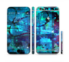 The Abstract Blue Vibrant Colored Art Sectioned Skin Series for the Apple iPhone 6/6s