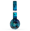 The Abstract Blue Vibrant Colored Art Skin Set for the Beats by Dre Solo 2 Wireless Headphones