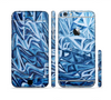 The Abstract Blue Water Pattern Sectioned Skin Series for the Apple iPhone 6/6s Plus