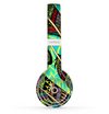 The Abstract Blue & Yellow Vector Feather Pattern Skin Set for the Beats by Dre Solo 2 Wireless Headphones