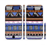 The Abstract Blue and Brown Shaped Aztec Sectioned Skin Series for the Apple iPhone 6/6s Plus