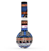 The Abstract Blue and Brown Shaped Aztec Skin Set for the Beats by Dre Solo 2 Wireless Headphones