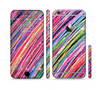 The Abstract Color Strokes Sectioned Skin Series for the Apple iPhone 6/6s