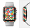 The Abstract Colorful Chevron Full-Body Skin Set for the Apple Watch