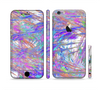The Abstract Colorful Oil Paint Splatter Strokes Sectioned Skin Series for the Apple iPhone 6/6s