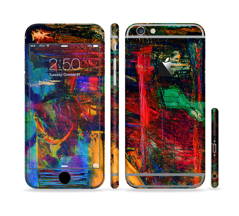 The Abstract Colorful Painted Surface Sectioned Skin Series for the Apple iPhone 6/6s Plus