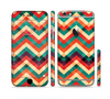 The Abstract Fall Colored Chevron Pattern Sectioned Skin Series for the Apple iPhone 6/6s