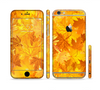 The Abstract Fall Leaves Sectioned Skin Series for the Apple iPhone 6/6s