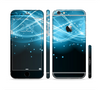 The Abstract Glowing Blue Swirls Sectioned Skin Series for the Apple iPhone 6/6s