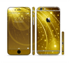 The Abstract Gold Fantasy Swoop Sectioned Skin Series for the Apple iPhone 6/6s
