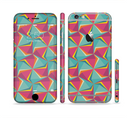 The Abstract Opened Green & Pink Cubes Sectioned Skin Series for the Apple iPhone 6/6s Plus