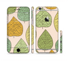 The Abstract Pastel Lined-Leaves Sectioned Skin Series for the Apple iPhone 6/6s