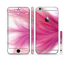 The Abstract Pink Flowing Feather Sectioned Skin Series for the Apple iPhone 6/6s