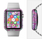 The Abstract Pink & Purple Vector Swirled Pattern Full-Body Skin Set for the Apple Watch