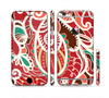 The Abstract Red & Green Vector Pattern Sectioned Skin Series for the Apple iPhone 6/6s