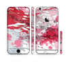 The Abstract Red, Pink and White Paint Splatter Sectioned Skin Series for the Apple iPhone 6/6s