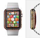 The Abstract Retro Stripes Full-Body Skin Set for the Apple Watch