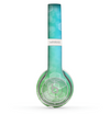 The Abstract Shaped Sparkle Unfocused Blue & Green Skin Set for the Beats by Dre Solo 2 Wireless Headphones