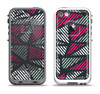 The Abstract Striped Vibrant Trangles Apple iPhone 5-5s LifeProof Fre Case Skin Set