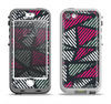 The Abstract Striped Vibrant Trangles Apple iPhone 5-5s LifeProof Nuud Case Skin Set
