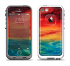 The Abstract Sunset Painting Apple iPhone 5-5s LifeProof Fre Case Skin Set