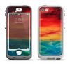 The Abstract Sunset Painting Apple iPhone 5-5s LifeProof Nuud Case Skin Set