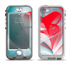 The Abstract Teal & Red Love Connect Apple iPhone 5-5s LifeProof Nuud Case Skin Set