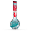 The Abstract Teal & Red Love Connect Skin Set for the Beats by Dre Solo 2 Wireless Headphones