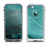 The Abstract Teal and Black Curves Apple iPhone 5-5s LifeProof Fre Case Skin Set