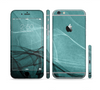The Abstract Teal and Black Curves Sectioned Skin Series for the Apple iPhone 6/6s Plus