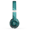 The Abstract Teal and Black Curves Skin Set for the Beats by Dre Solo 2 Wireless Headphones