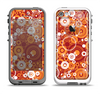 The Abstract Vector Gold & White Circle Swirls Apple iPhone 5-5s LifeProof Fre Case Skin Set