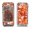 The Abstract Vector Gold & White Circle Swirls Apple iPhone 5-5s LifeProof Nuud Case Skin Set