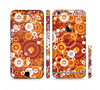 The Abstract Vector Gold & White Circle Swirls Sectioned Skin Series for the Apple iPhone 6/6s