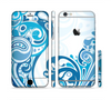The Abstract Vibrant Blue Swirled Sectioned Skin Series for the Apple iPhone 6/6s