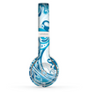 The Abstract Vibrant Blue Swirled Skin Set for the Beats by Dre Solo 2 Wireless Headphones