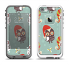 The Abstract Vintage Christmas Owls Apple iPhone 5-5s LifeProof Fre Case Skin Set