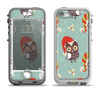 The Abstract Vintage Christmas Owls Apple iPhone 5-5s LifeProof Nuud Case Skin Set