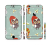 The Abstract Vintage Christmas Owls Sectioned Skin Series for the Apple iPhone 6/6s