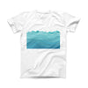 The Abstract WaterWaves ink-Fuzed Front Spot Graphic Unisex Soft-Fitted Tee Shirt