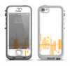 The Abstract Yellow Skyline View Apple iPhone 5-5s LifeProof Nuud Case Skin Set